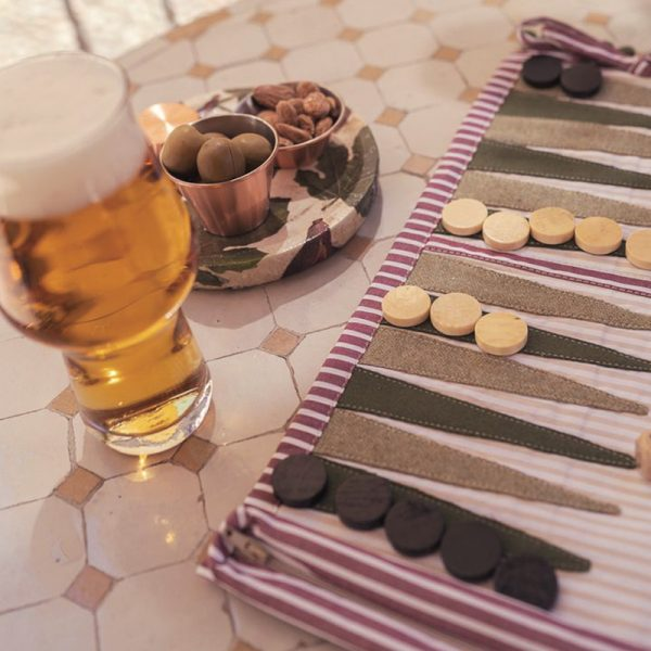 backgammon in tessuto