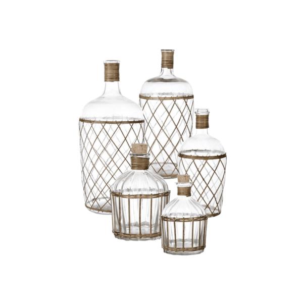 bottiglie decorative di vetro