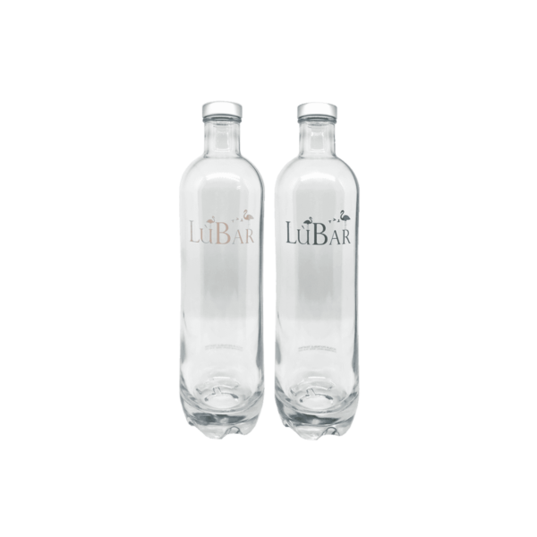 bottiglia in vetro per la tavola