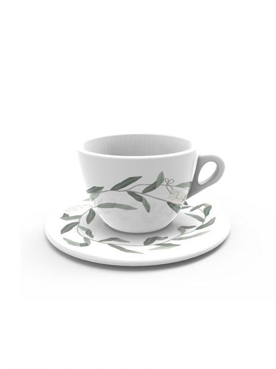 tazza da te decorata
