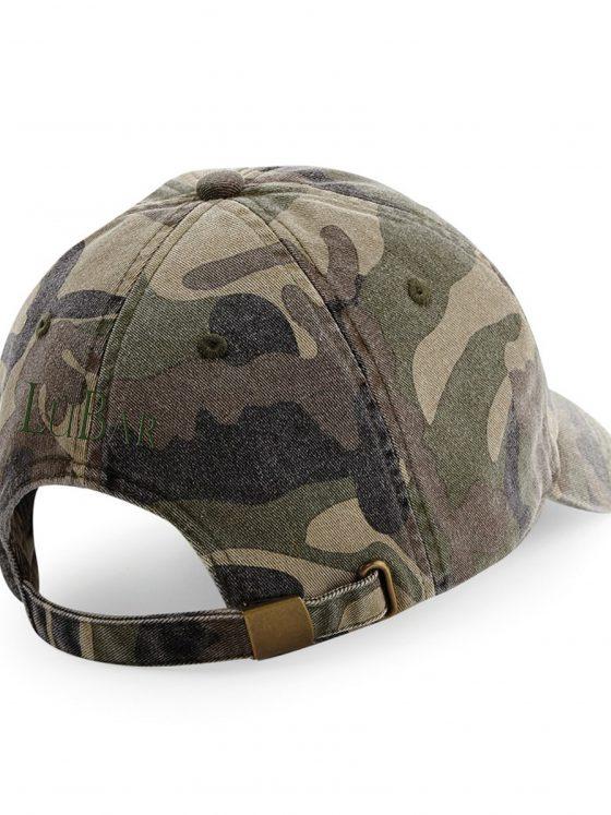 cappellino con visiera cotone vintage con ricamo
