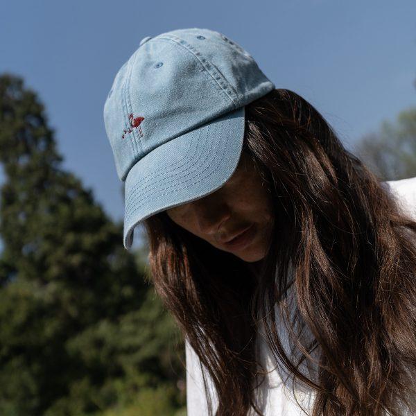 cappellino vintage con visiera e logo ricamato